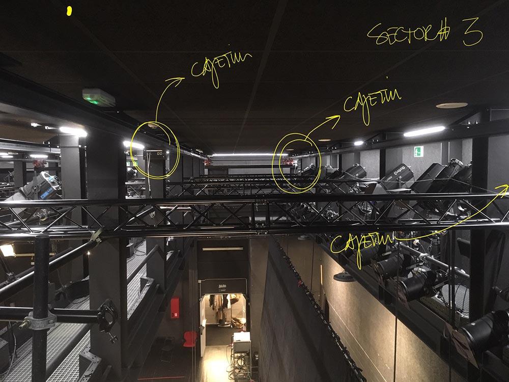 TAGA Ingenieria Escenica Puntos Rigging Sala Tirso Madrid